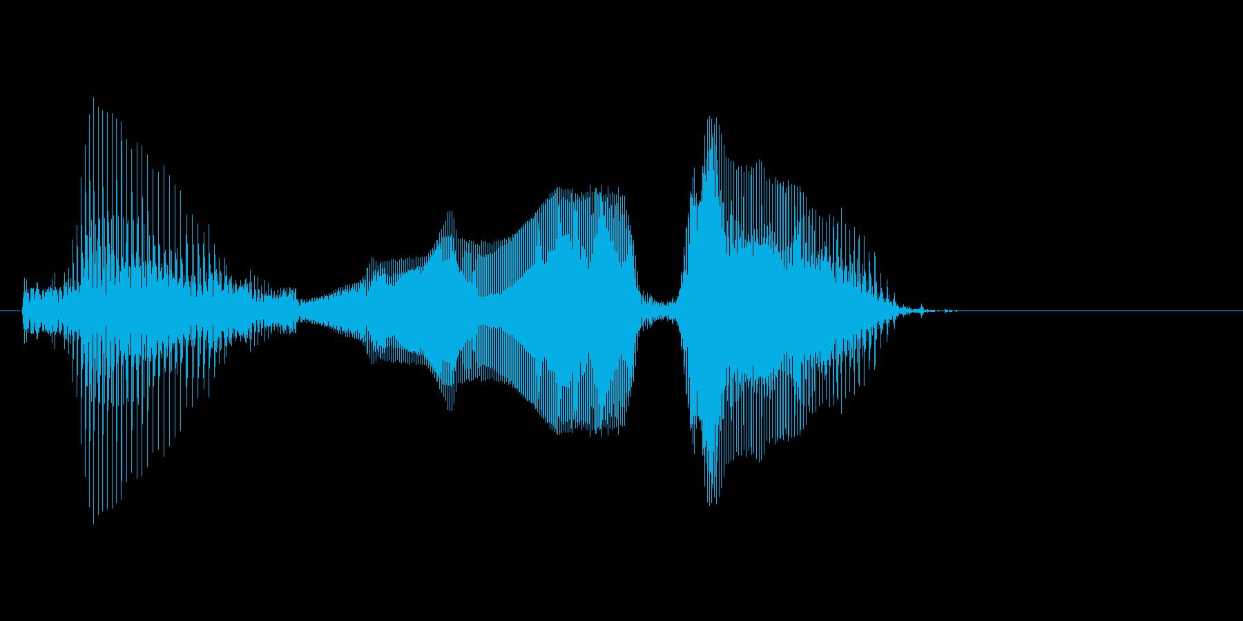 タイムオーバーの再生済みの波形