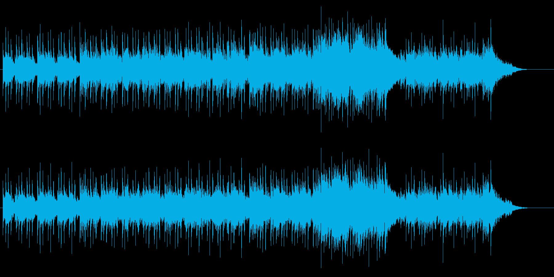 コラージュされたレゲエサウンドの再生済みの波形