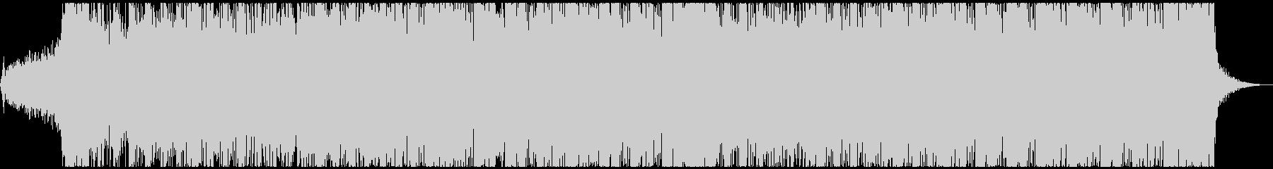 激しいメタルテクノ、威圧的、デスボイスの未再生の波形
