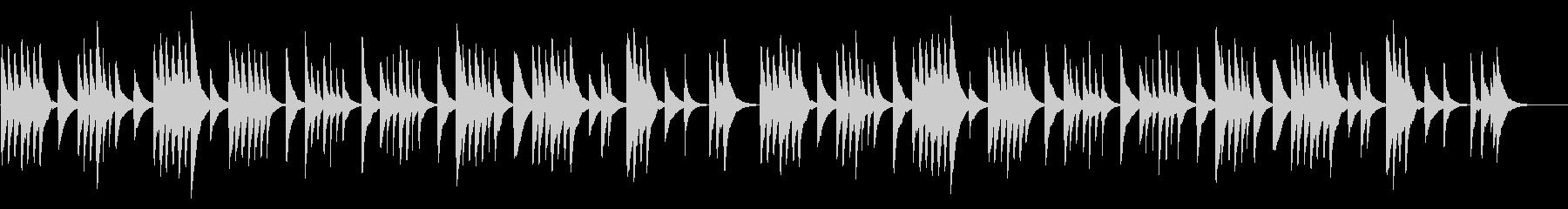 モーツァルトの子守唄 18弁オルゴールの未再生の波形