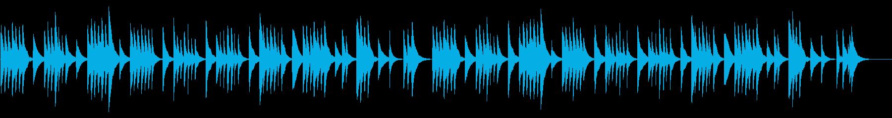 モーツァルトの子守唄 18弁オルゴールの再生済みの波形