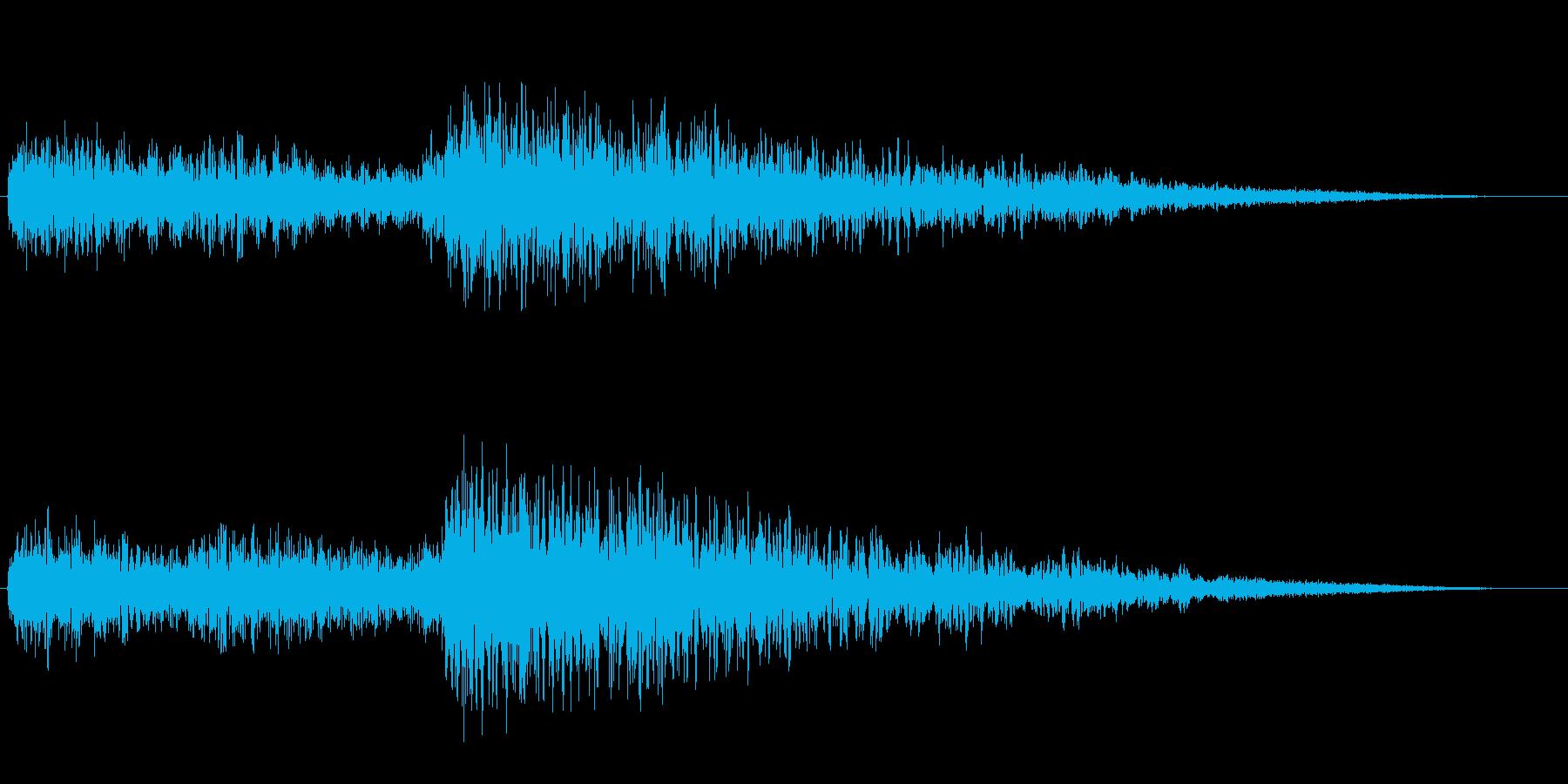 「ガーン ドカーン(アクセント音)」の再生済みの波形