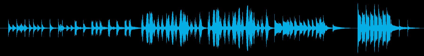 コミカルでやさしい雰囲気のメロディーの再生済みの波形