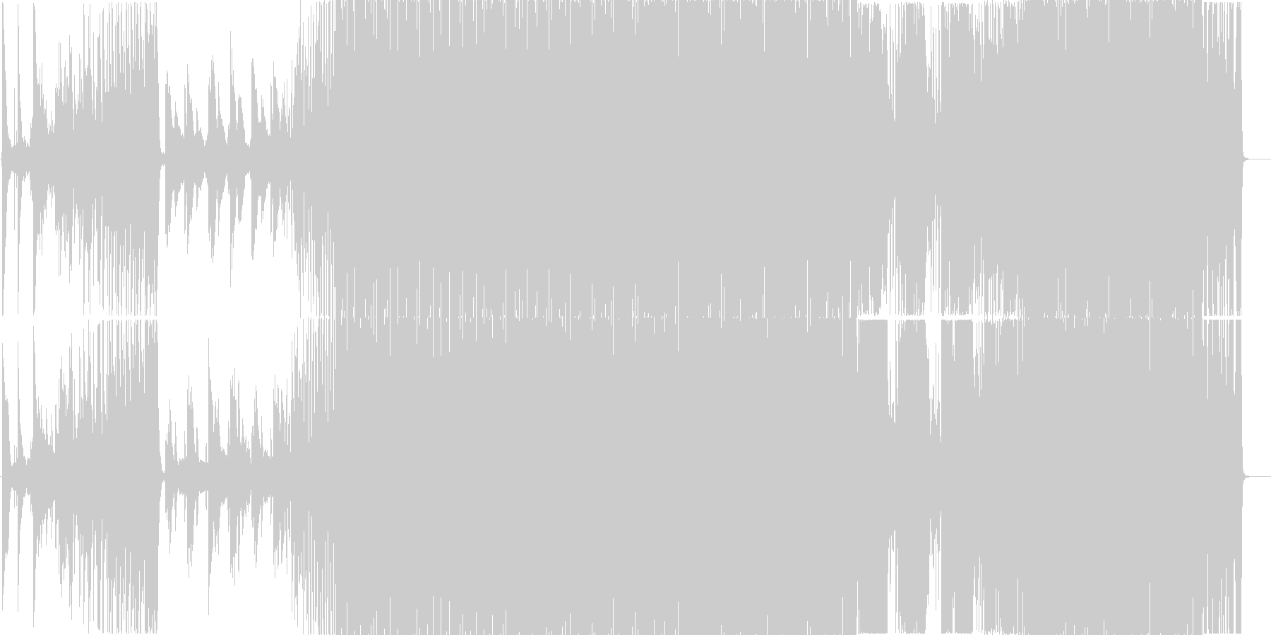 SADAMEの未再生の波形