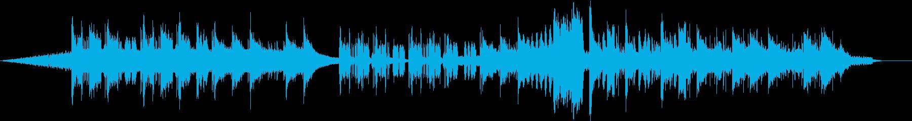 ピアノの旋律が印象的な曲の再生済みの波形