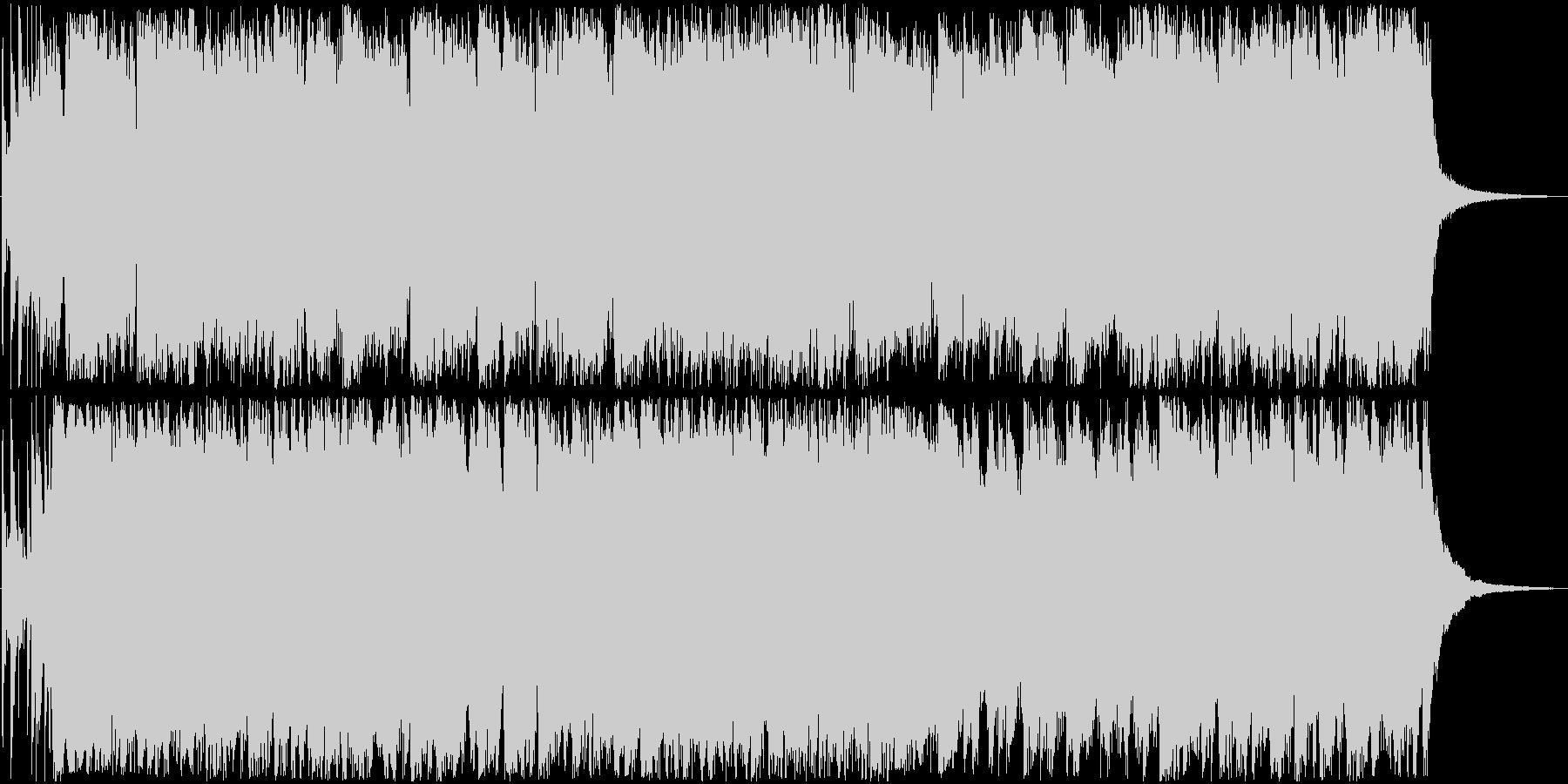 次回予告に最適なバンドサウンドの未再生の波形