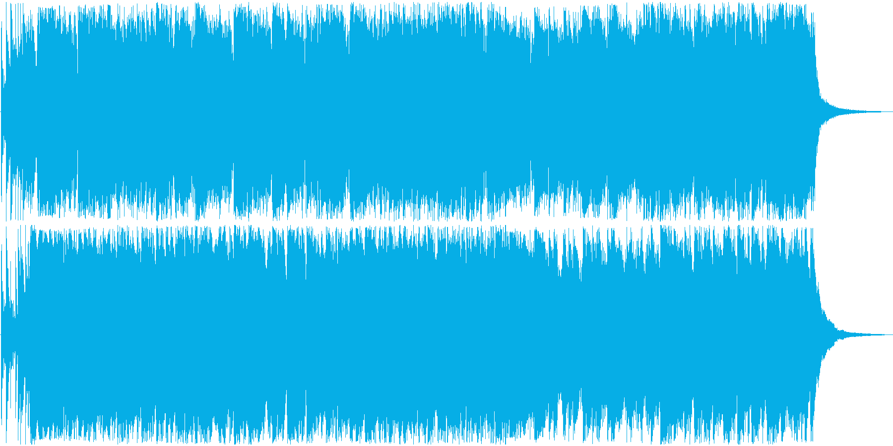 次回予告に最適なバンドサウンドの再生済みの波形