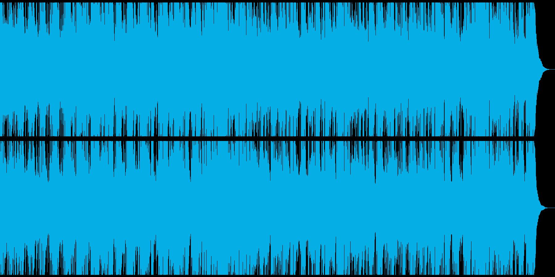 ノスタルジックなマンドリン生演奏のワルツの再生済みの波形