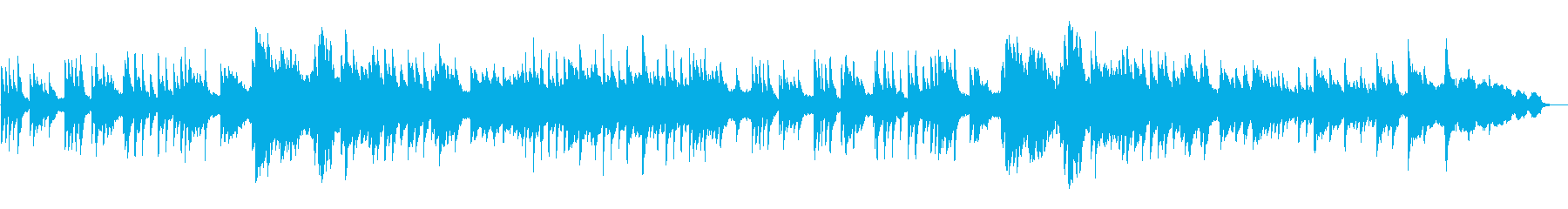 ノスタルジックで切ないピアノソロバラードの再生済みの波形