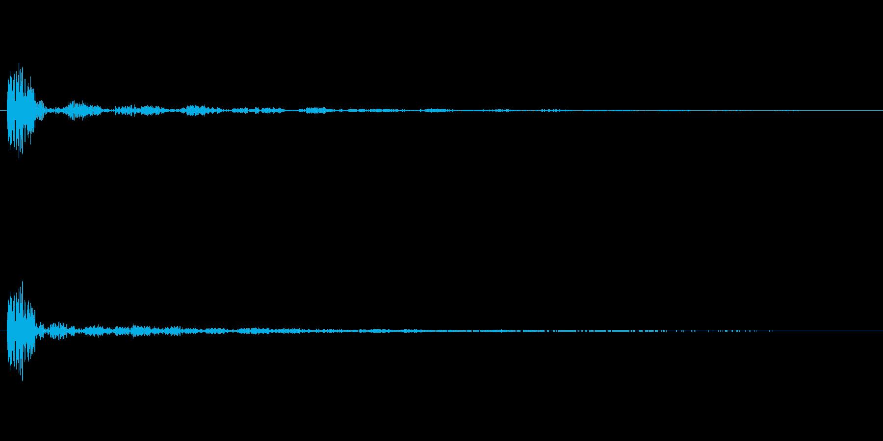 ボン+せり上がりの余韻の再生済みの波形
