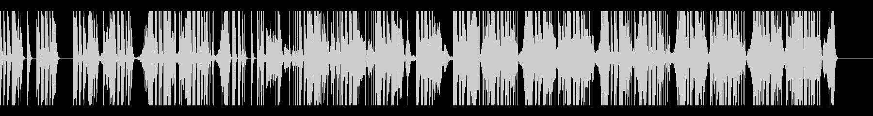 緊迫感のある電子音楽の未再生の波形