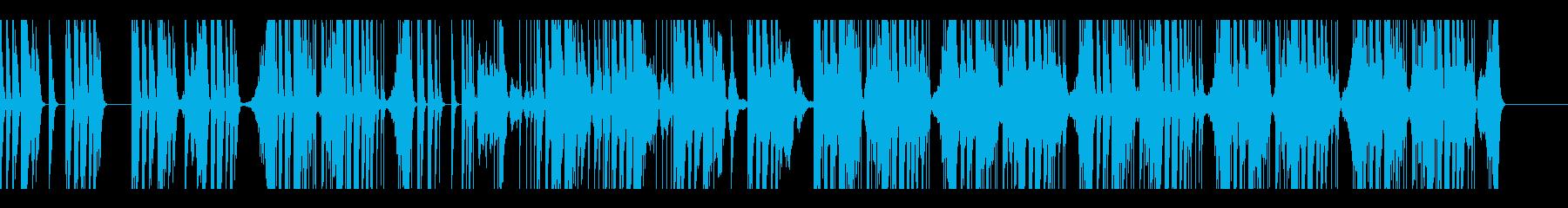 緊迫感のある電子音楽の再生済みの波形