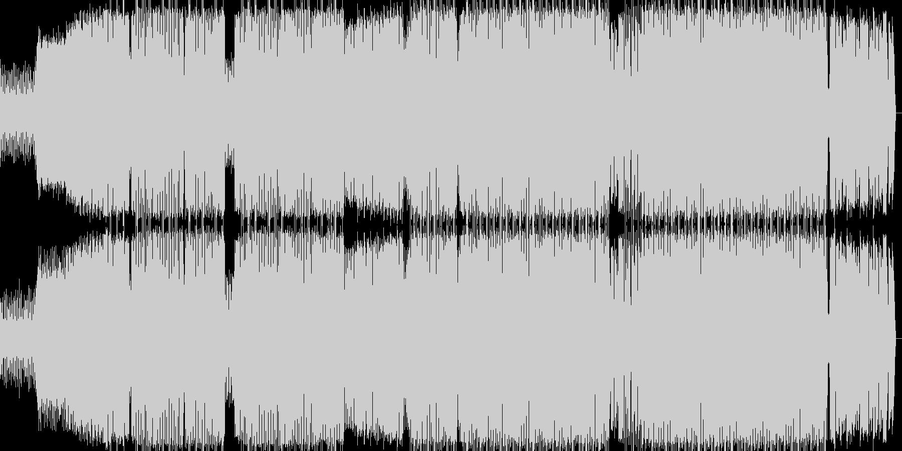 男性ボーカルが特徴のヒップホップの未再生の波形