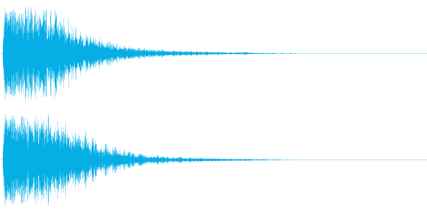 バァーン!の再生済みの波形
