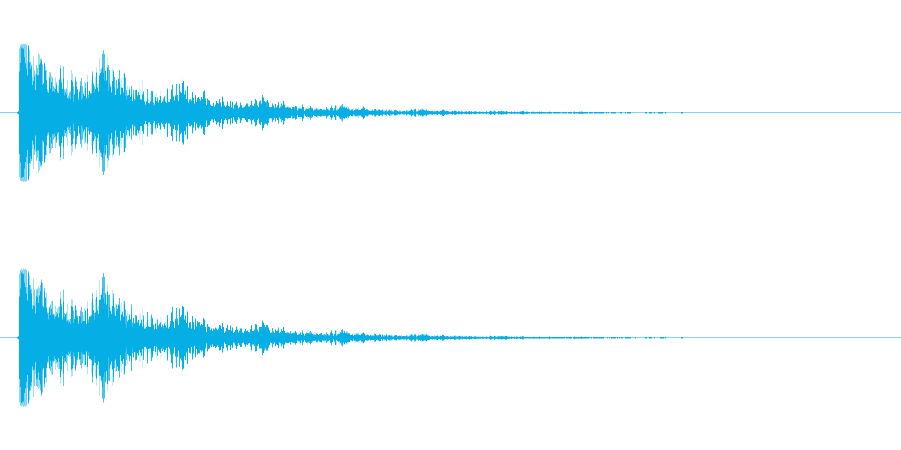 【衝撃06-2】の再生済みの波形