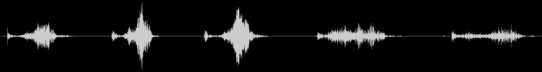 ASMR 段ボールをひっかく音の未再生の波形