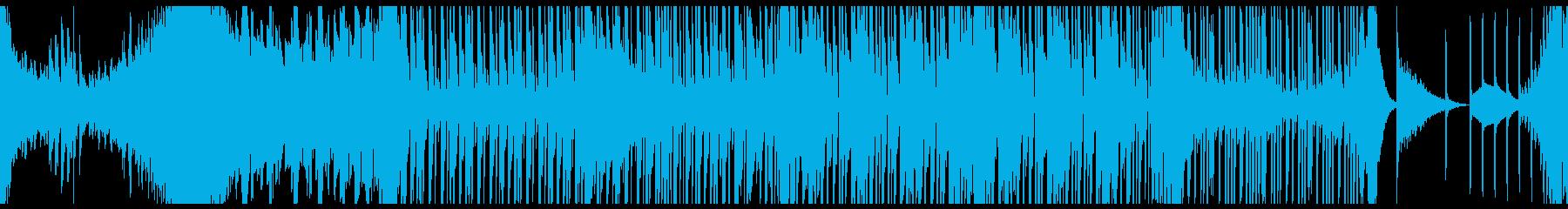 トランス、EDM系のBGMループ音楽の再生済みの波形