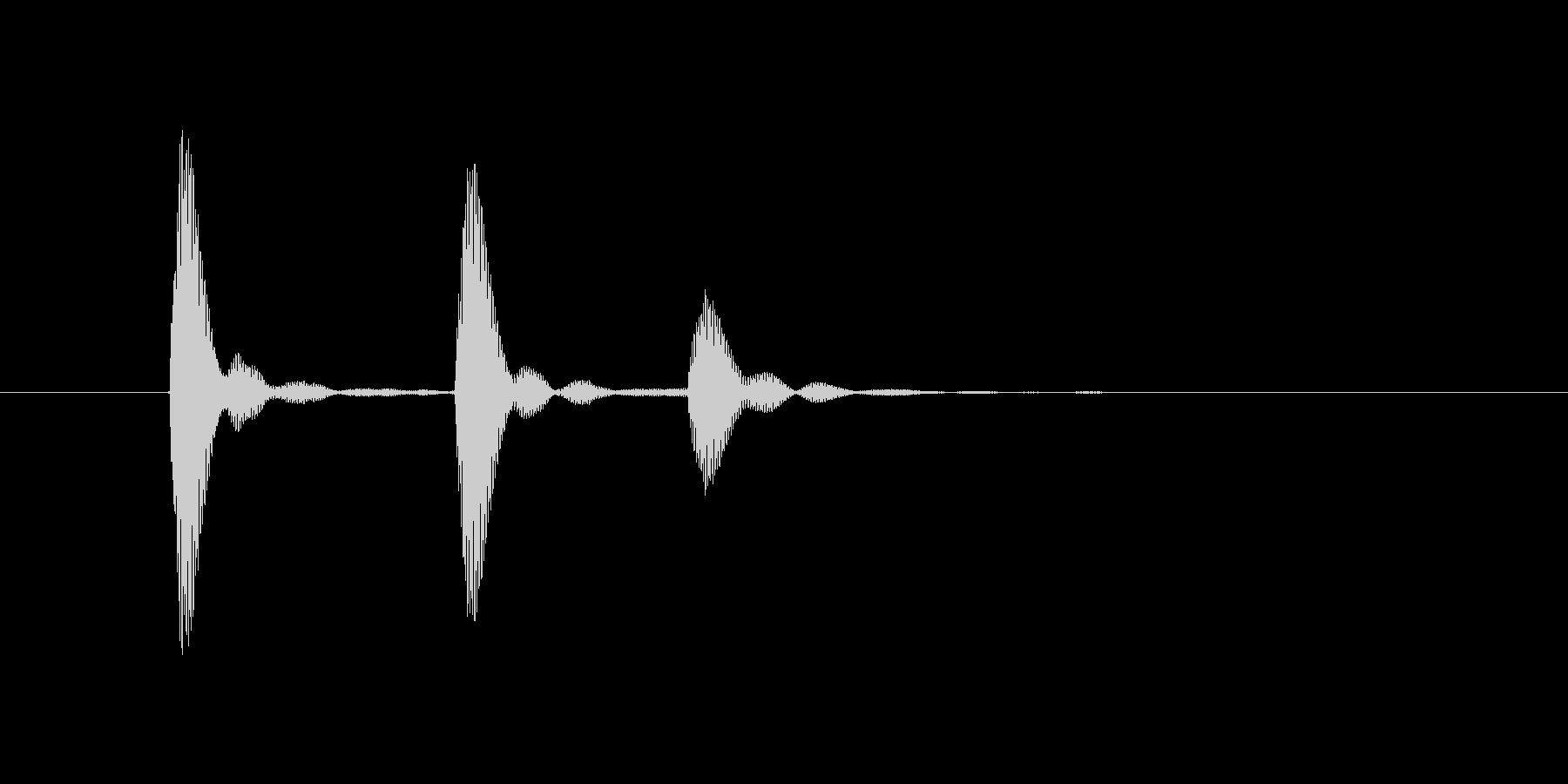 コココッ(カウベル、キャンセル)の未再生の波形
