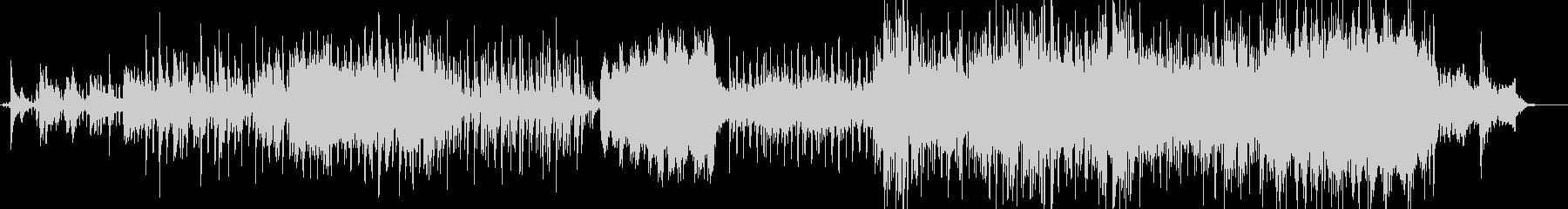 ピアノとアコギの背景的音楽の未再生の波形