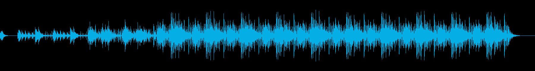 スローテンポノービートバージョンの再生済みの波形