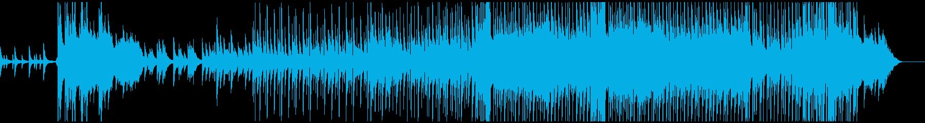 冬、クリスマス風ポップなピアノバラードの再生済みの波形