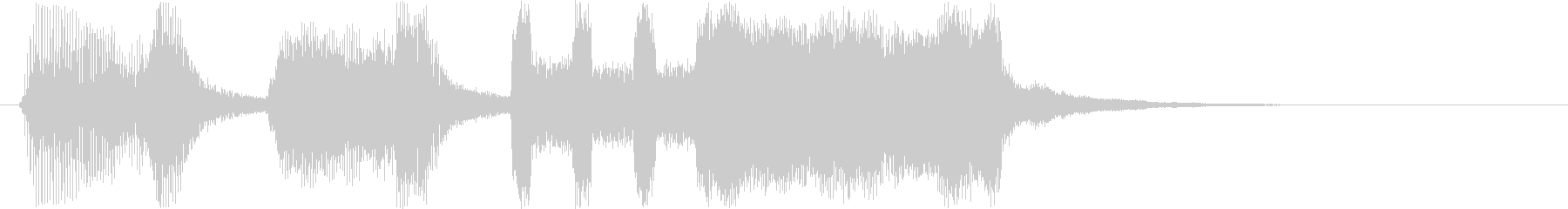 コミカルなシンセサイザーなど短めジングルの未再生の波形