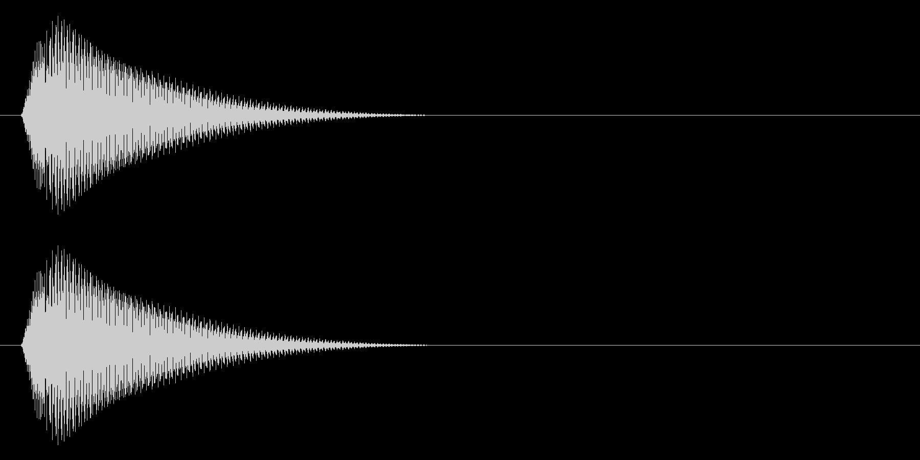 タラーン↓(メニューを開く、ポーズ)の未再生の波形
