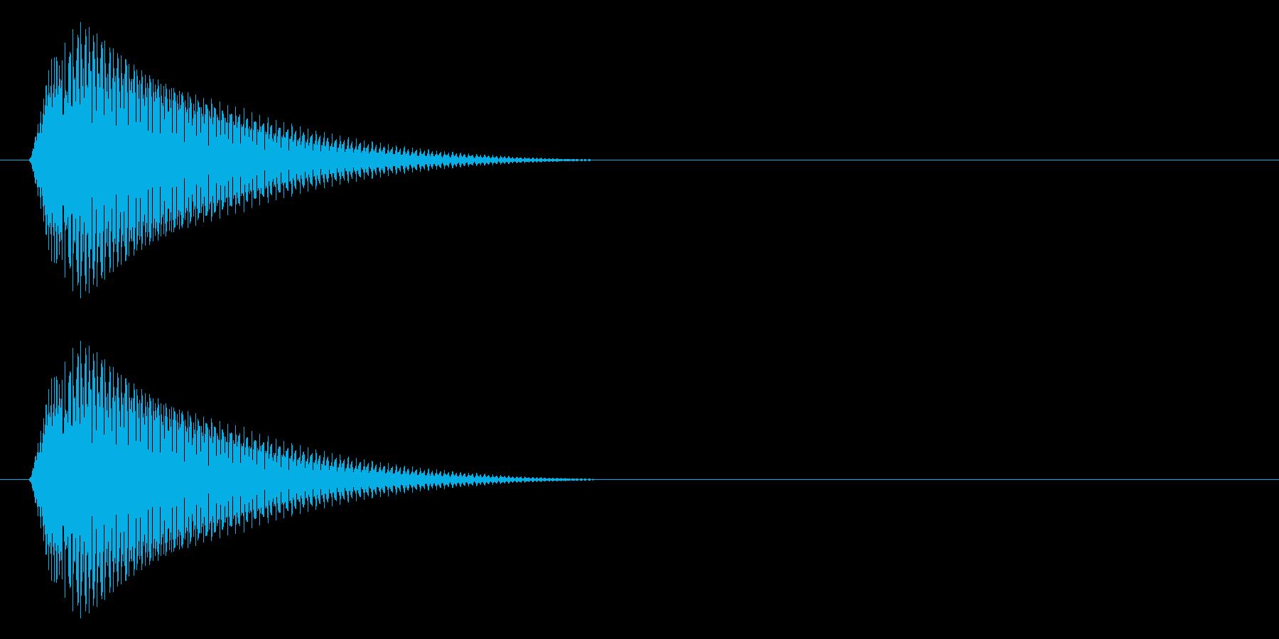タラーン↓(メニューを開く、ポーズ)の再生済みの波形