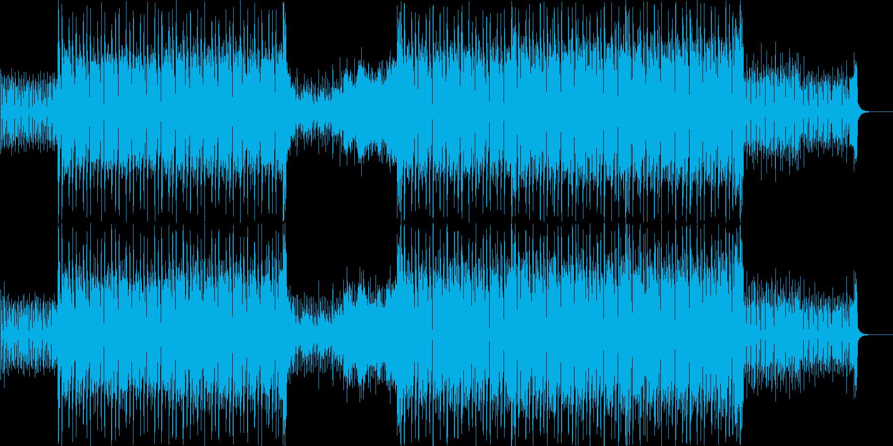 企業VP!クールなギターのカッティングの再生済みの波形