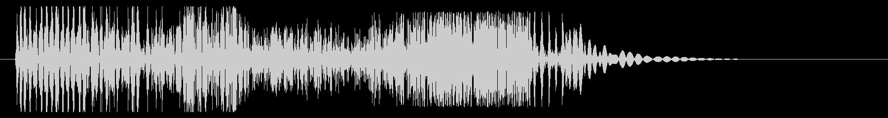 ブッシャア(時代劇向け斬撃音・強)の未再生の波形
