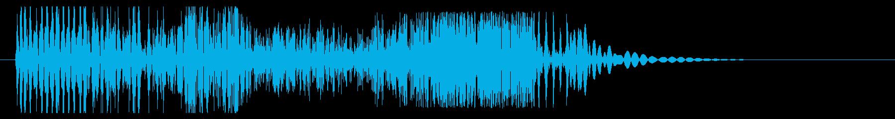 ブッシャア(時代劇向け斬撃音・強)の再生済みの波形