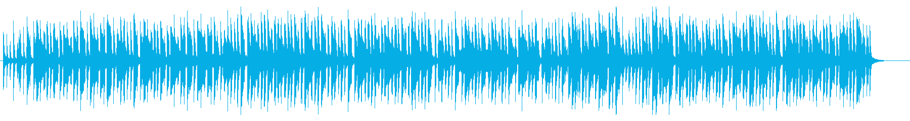 トロピカルな雰囲気のラテンミュージックの再生済みの波形