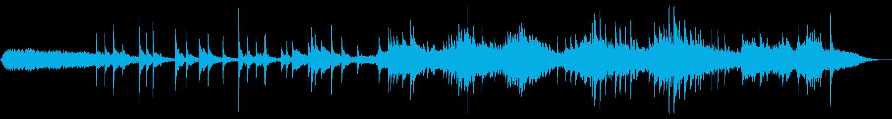 アンビエントなピアノソロとストリングスの再生済みの波形