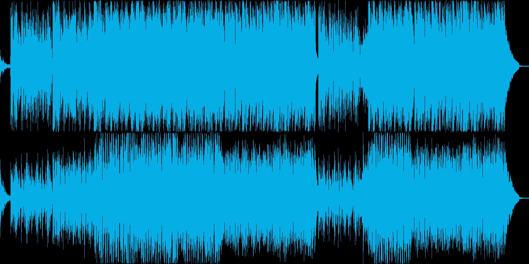 バンドが演奏しているインスト曲の再生済みの波形