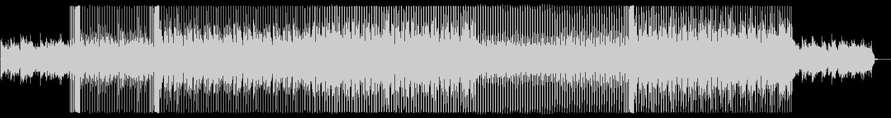 オシャレな雰囲気を演出するハウス系楽曲の未再生の波形