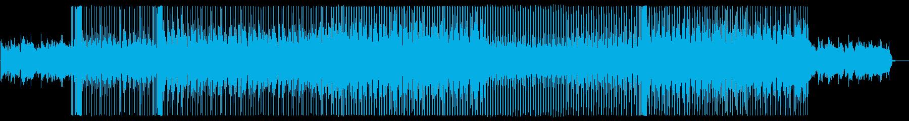 オシャレな雰囲気を演出するハウス系楽曲の再生済みの波形