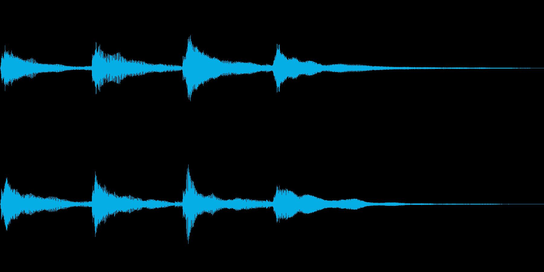 ピンポンパンポンの再生済みの波形