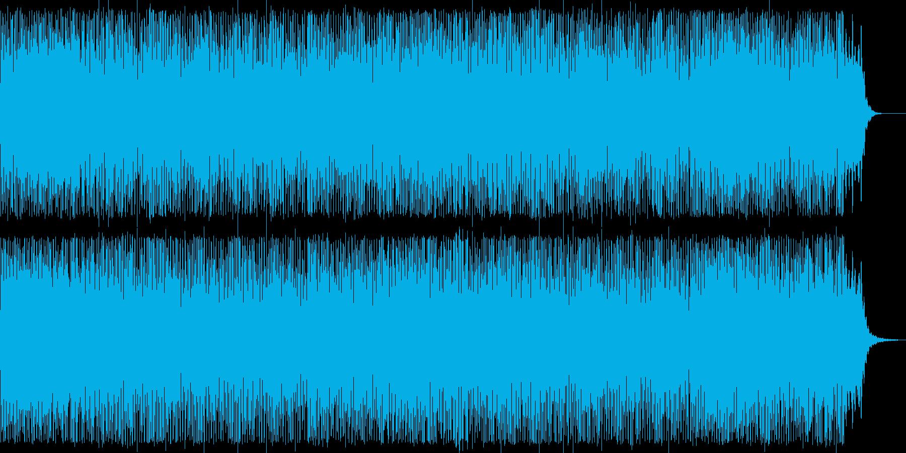 爽やかなピアノシンセテクノ系ポップの再生済みの波形