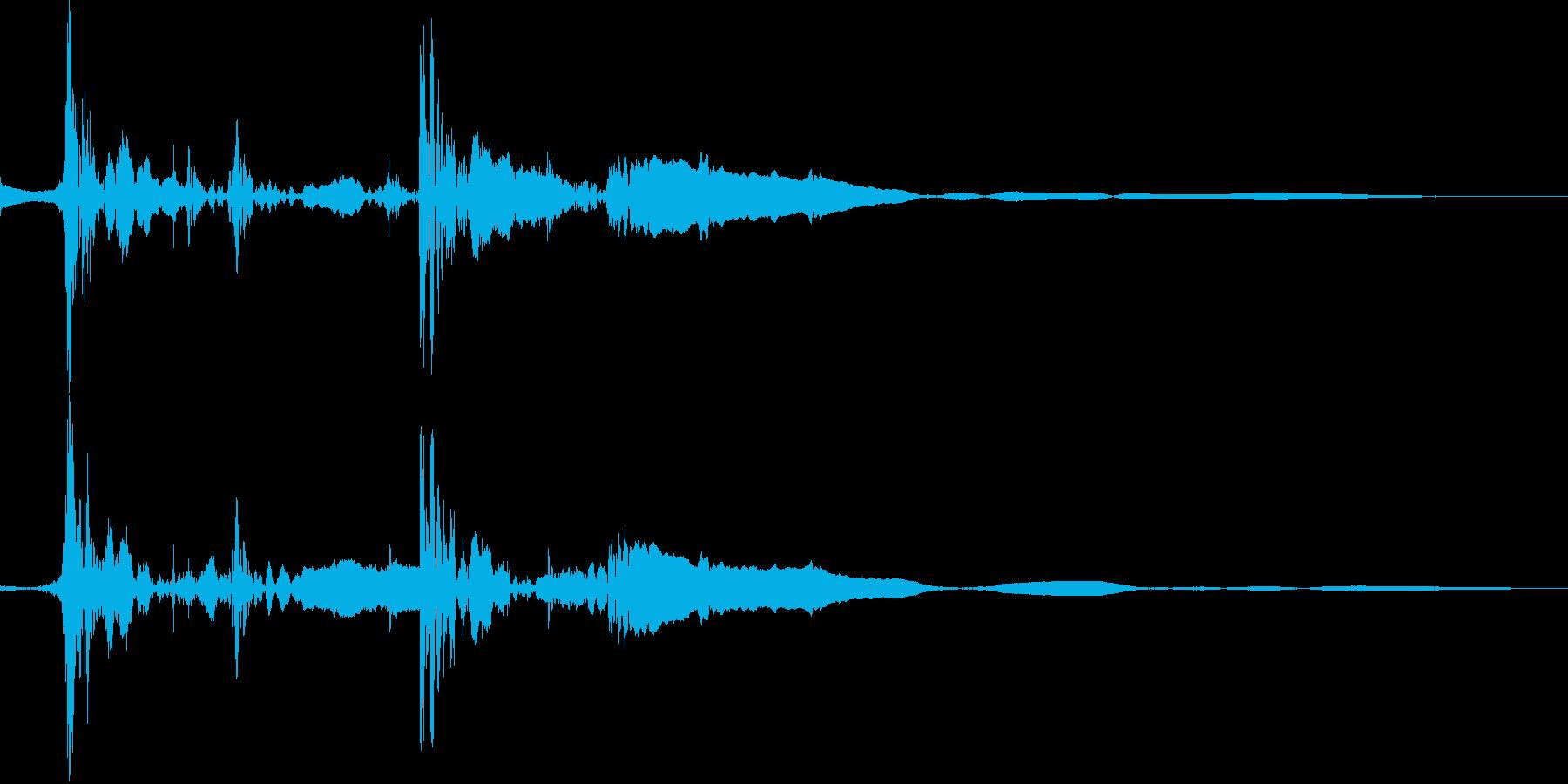 ジャンプの着地(スタッ)の再生済みの波形