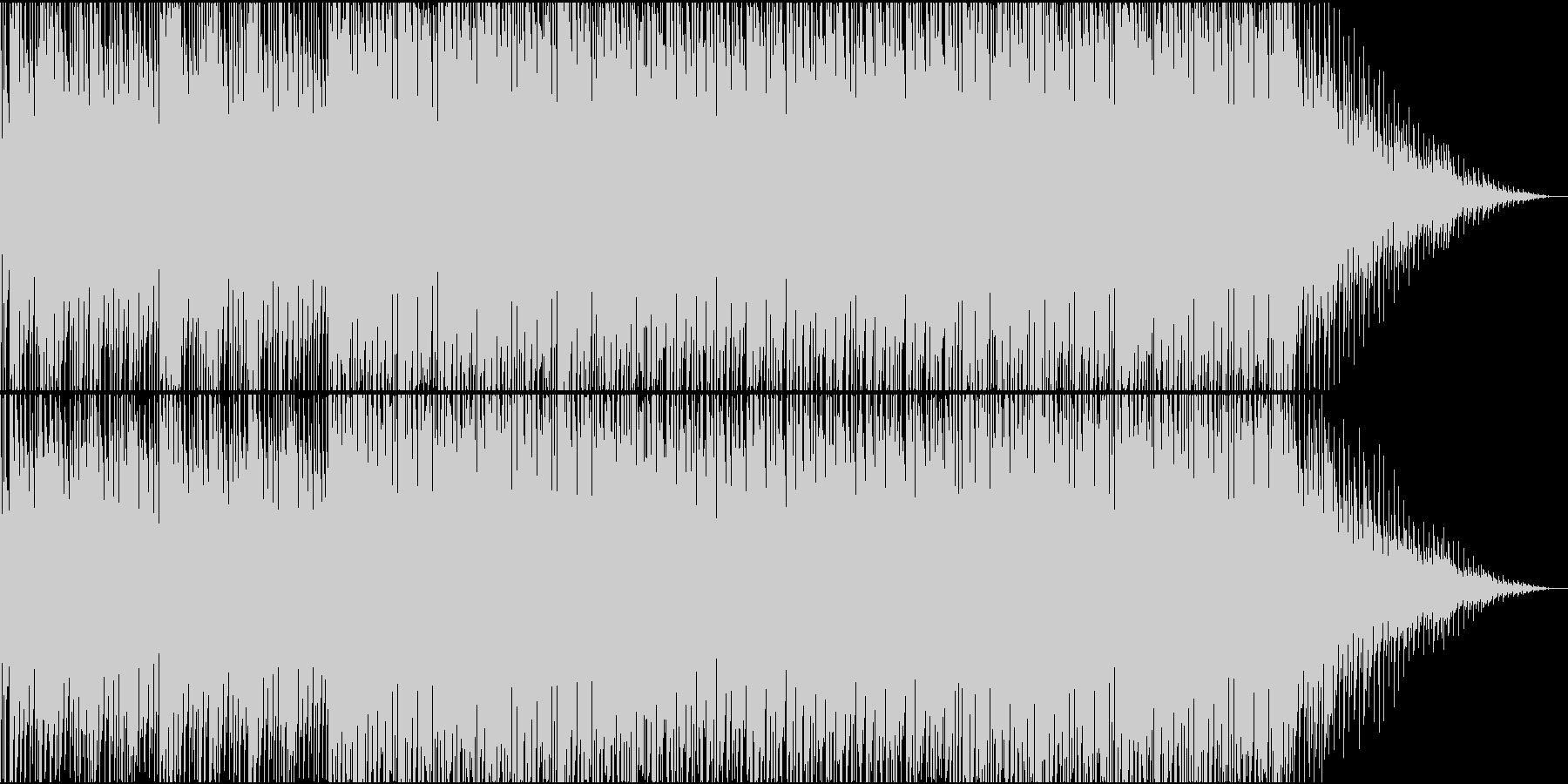 おしゃれなハウスの未再生の波形