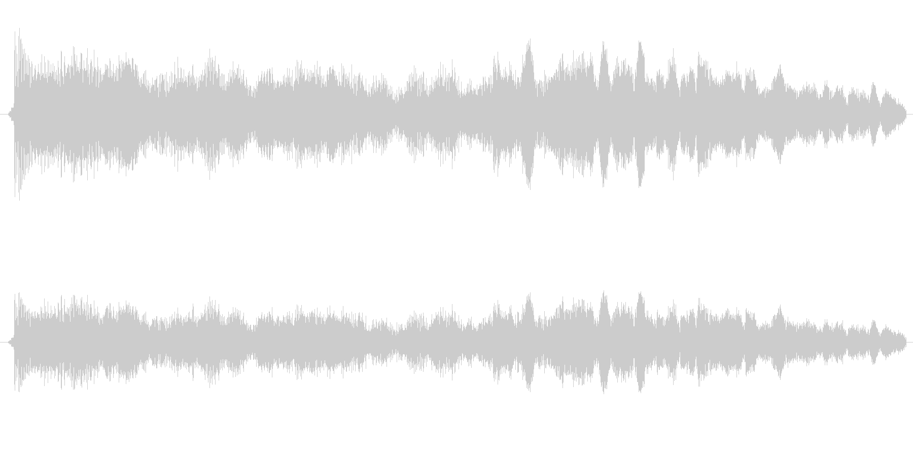 ゲージが上がる音の未再生の波形