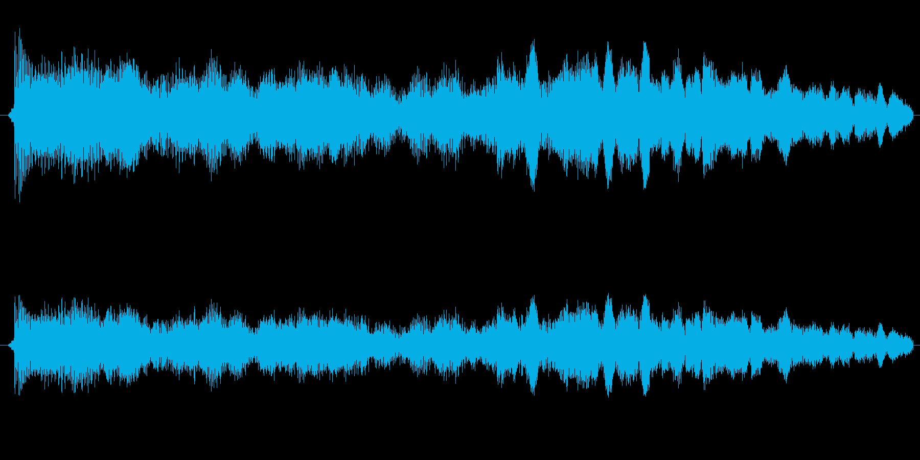 ゲージが上がる音の再生済みの波形