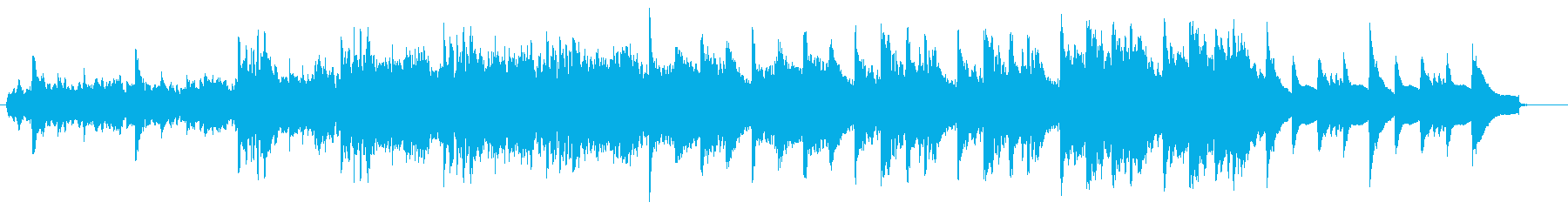 スローテンポの神秘的で優しい楽曲の再生済みの波形