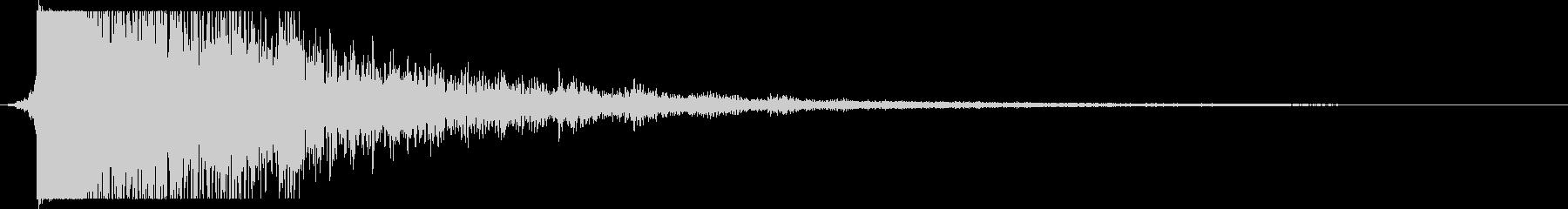 重残響メタルリップインパクトの未再生の波形