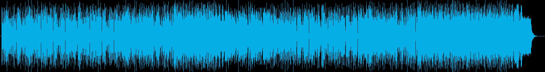 ドラマチックなピアノなどのサウンドの再生済みの波形