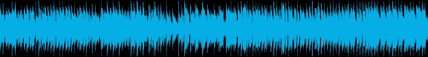 嬉しい気分の日常系リコーダー曲※ループ版の再生済みの波形