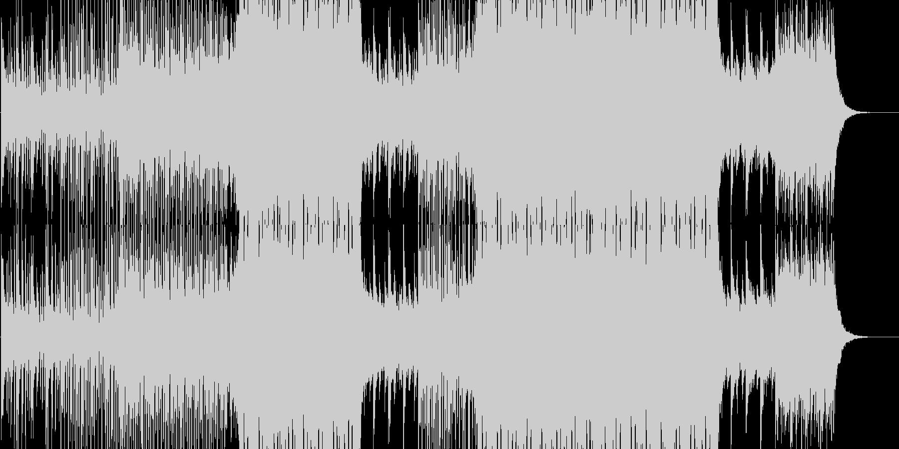 爽やかな南国のトロピカルソングの未再生の波形