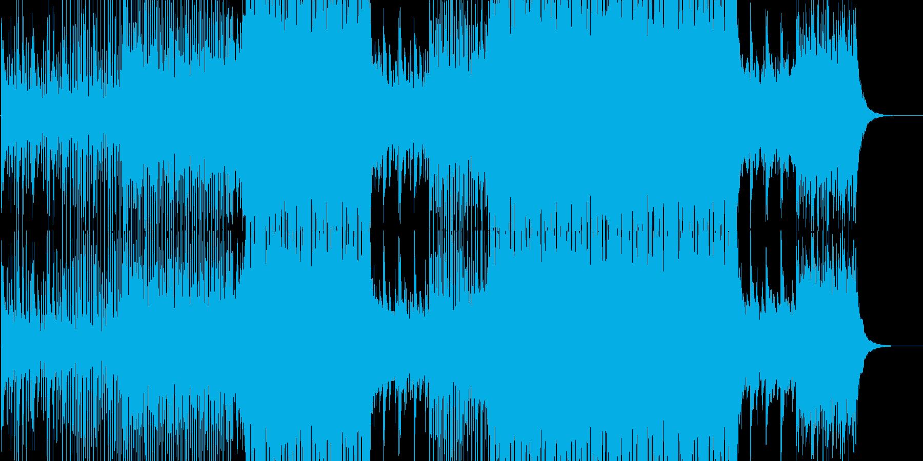 爽やかな南国のトロピカルソングの再生済みの波形