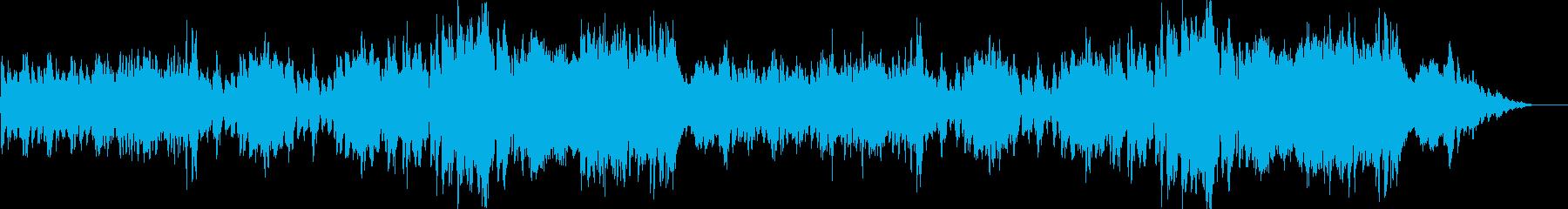 重々しいオーケストラ楽曲の再生済みの波形