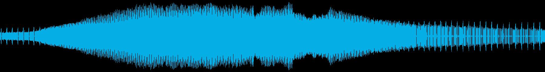 アブラゼミの鳴き声(近距離、一匹のみ)の再生済みの波形